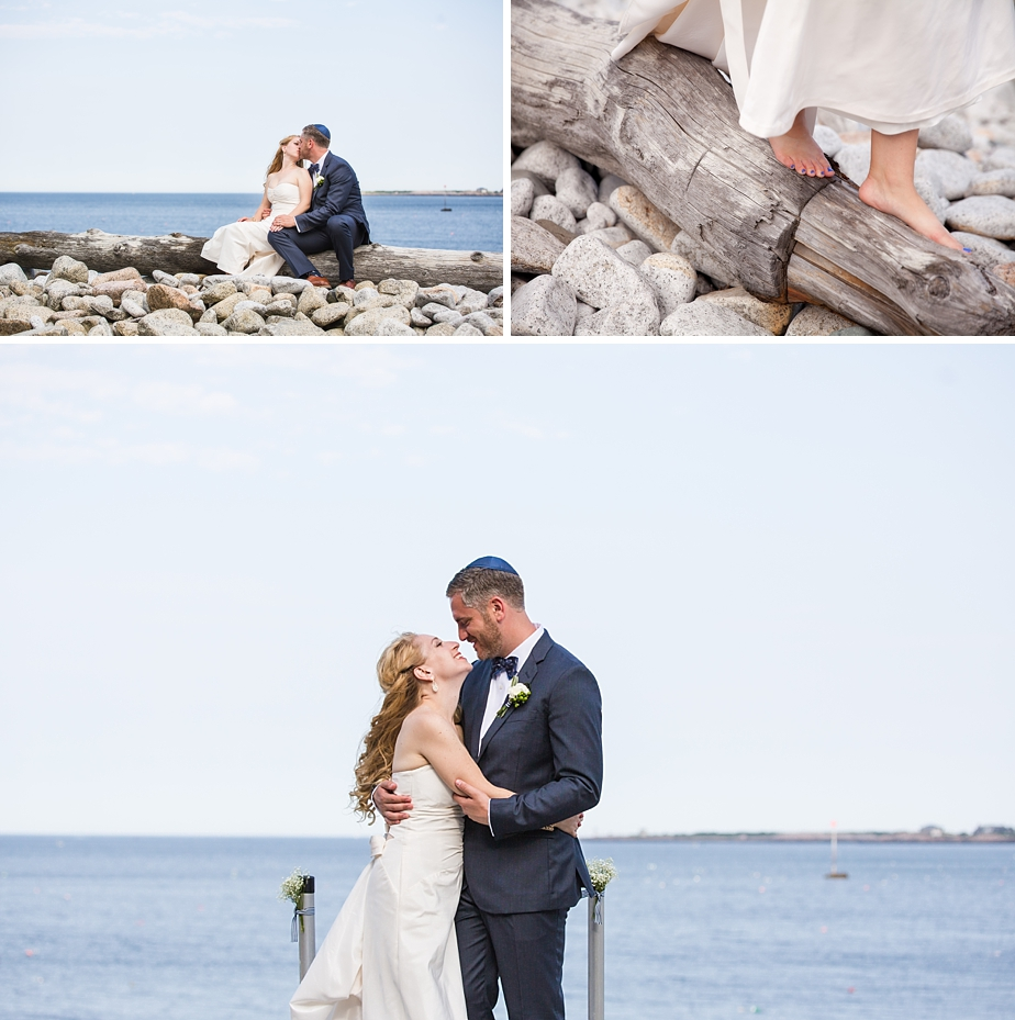 nautical wedding in Rockport, MA