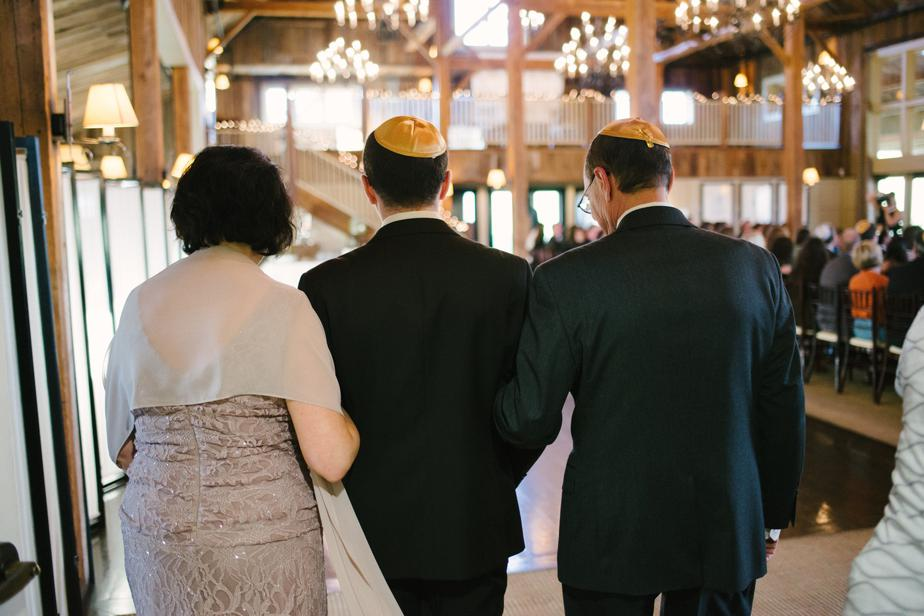 jewish wedding at the barn at gibbet hill