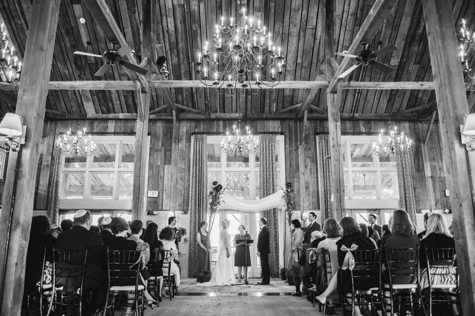 jewish wedding ceremony at the barn at gibbet hill