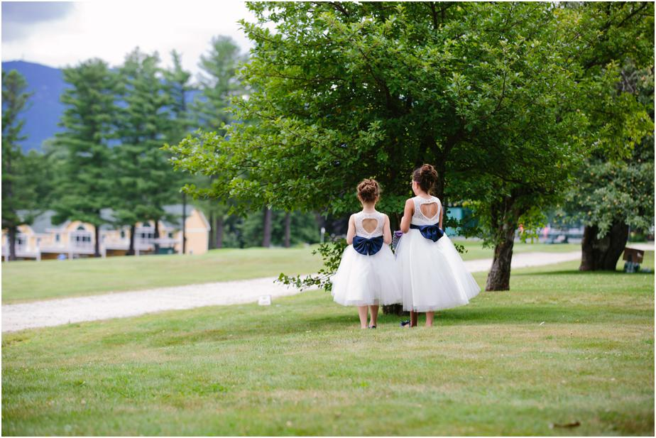 flower girls at bethel inn maine wedding