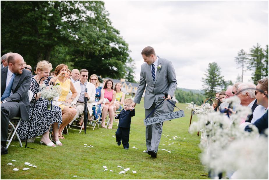 baby ring bearer at bethel inn maine wedding