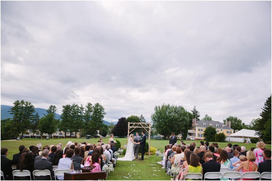 bethel inn wedding maine outdoor ceremony
