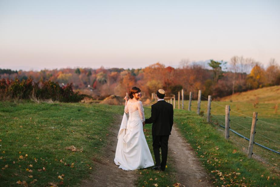 the barn at gibbet hill wedding in autumn