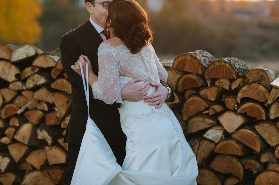 sunset fall wedding gibbet hill