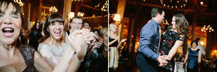 dance the hora at barn at gibbet hill wedding