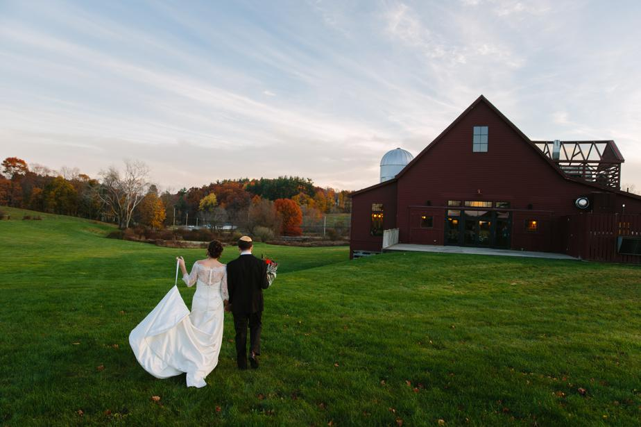 final shot from barn at gibbet hill wedding