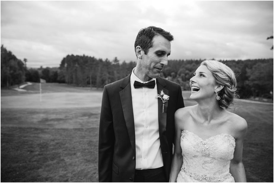 bethel inn maine wedding black and white photo
