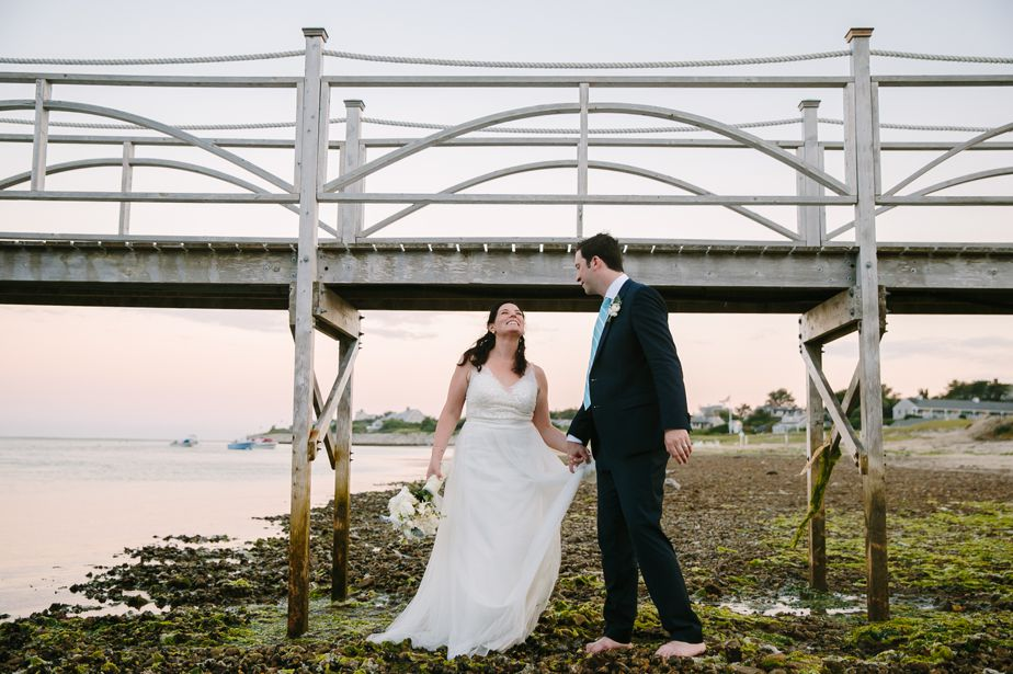 chatham bars inn wedding boardwalk bridge