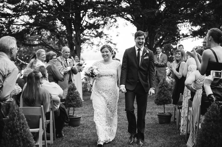 walk down aisle jut married brookwood garden