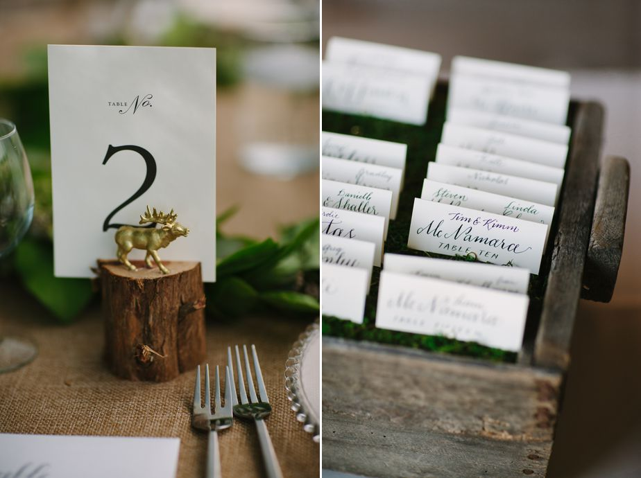 caligraphy place setting brookwood garden wedding
