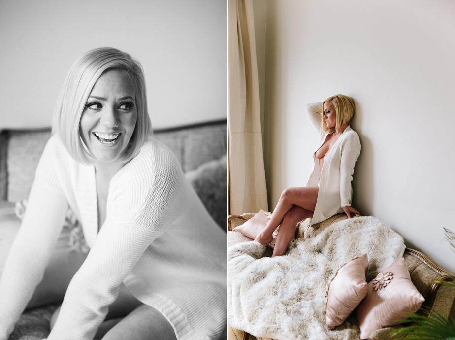 natural boudoir session in boston MA