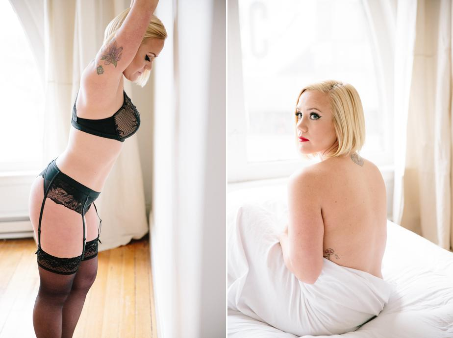 blonde beauty in boston boudoir photography