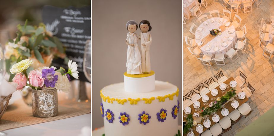 wedding cake topper with two bride at cambridge multicultural arts center