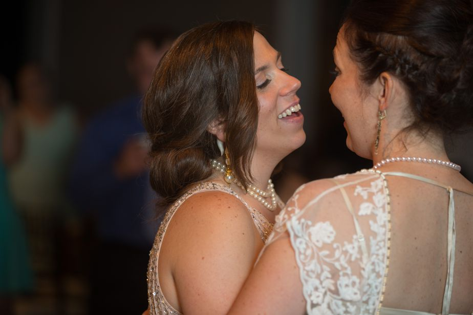 two brides first dance in cambridge ma