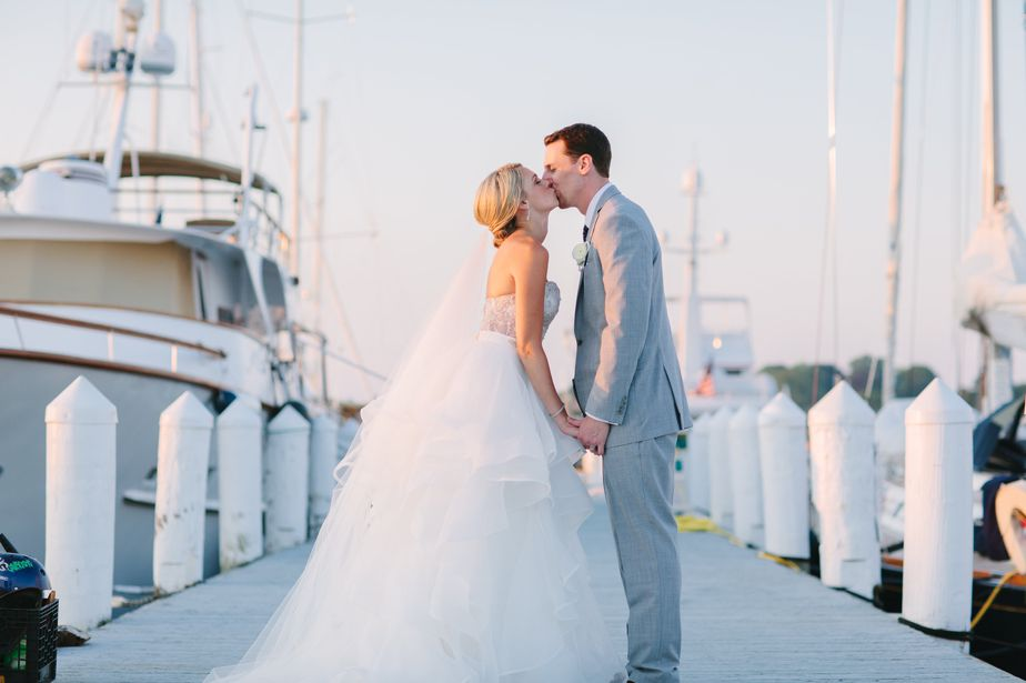 blue and white wedding at belle mer wedding newport RI