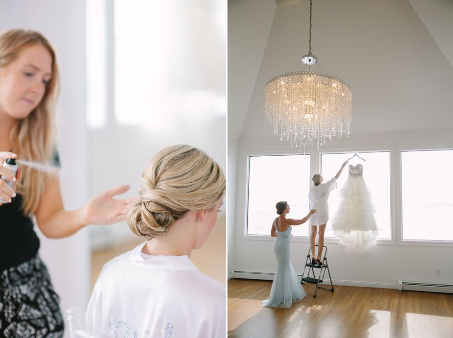 chignon wedding hair at belle mer wedding newport RI