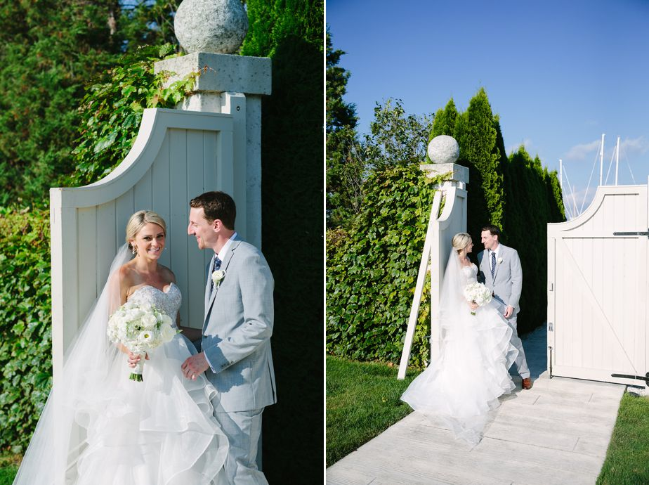 outdoor portraits at the island house at belle mer wedding newport RI