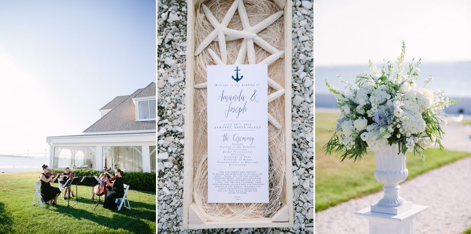 nautical details from belle mer wedding newport RI