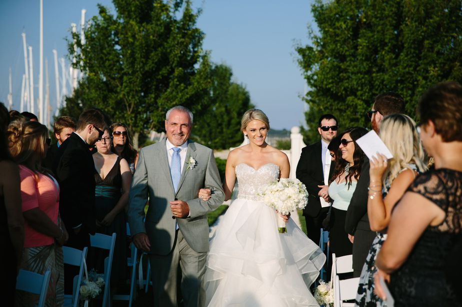 outdoor ceremony at island house belle mer wedding newport RI
