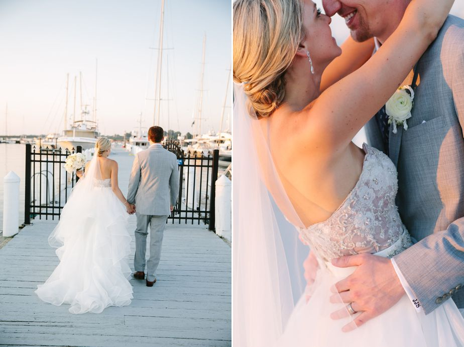 corset wedding dress at belle mer wedding newport RI