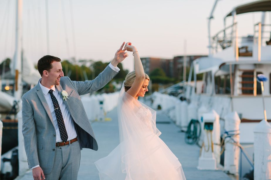 dancing on the boardwalk belle mer wedding newport RI