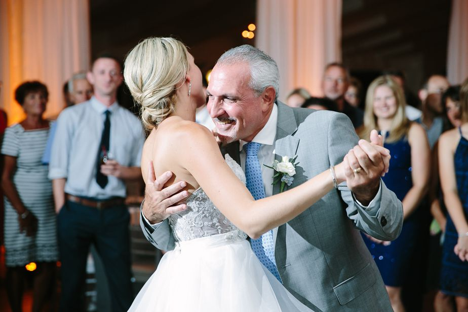 father daughter dance at belle mer wedding newport RI