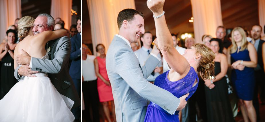 parent dances mother of the groom blue dress at belle mer wedding newport RI