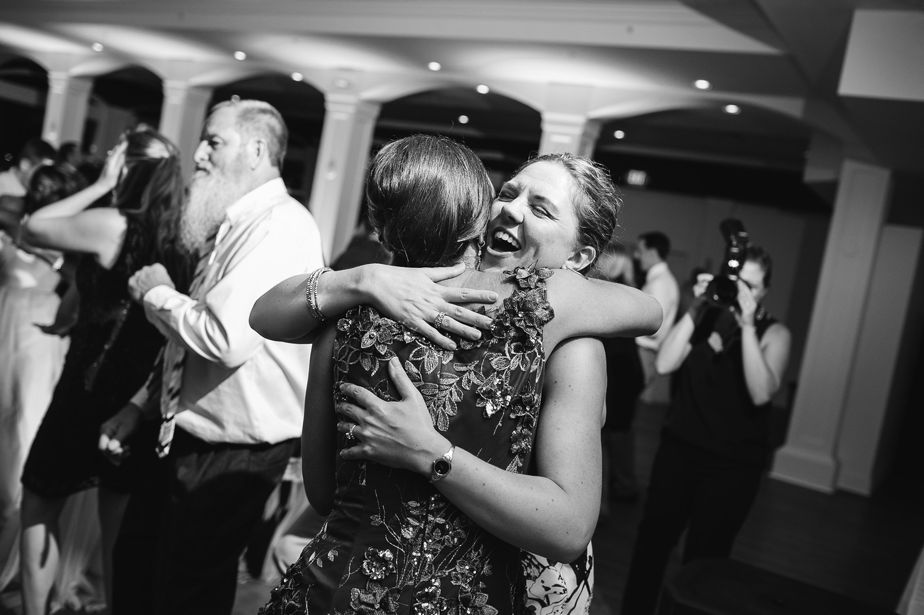dance floor hugs at this belle mer wedding newport RI