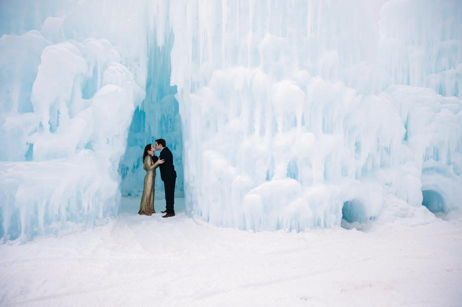 romantic ice castles in NH