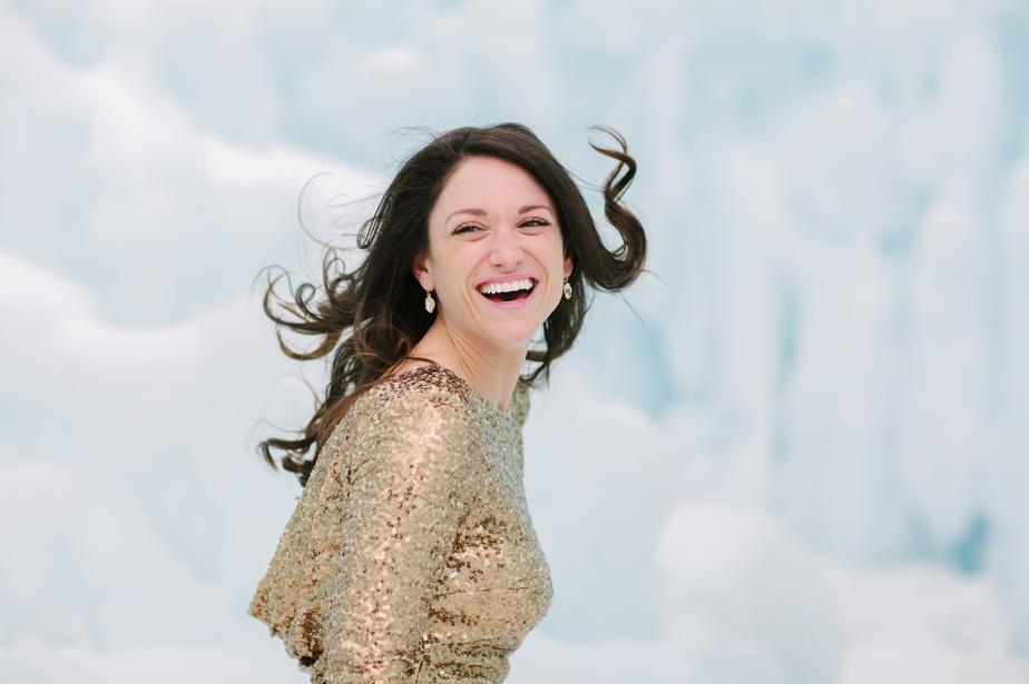 creative portrait photographer in NH ice castles