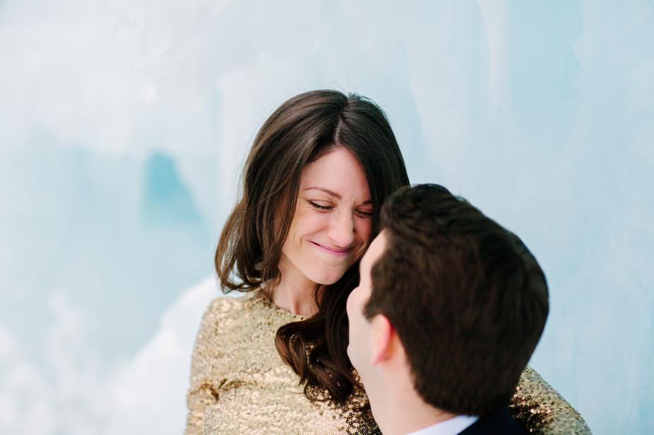 engagement shoot at ice castles NH
