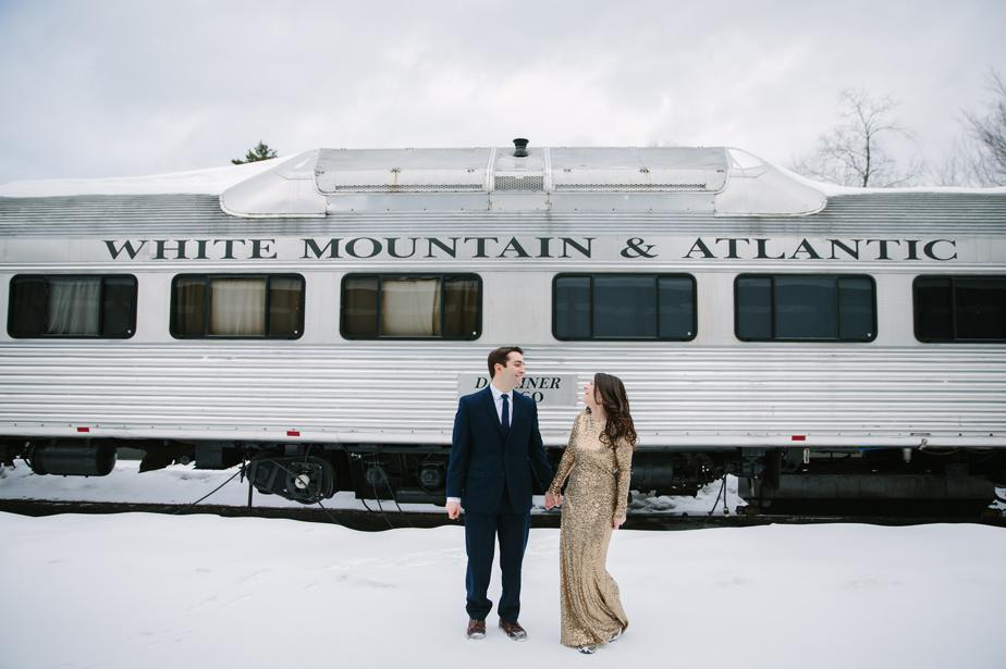 white mountains NH engagement shoot