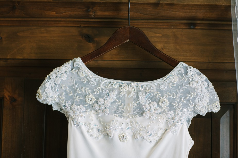 BHLDN wedding dress for flagstaff AZ wedding at pine canyon