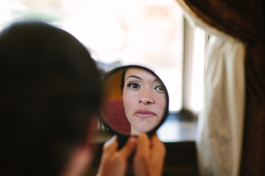 asian bride gets makeup done at studio nouveau wedding