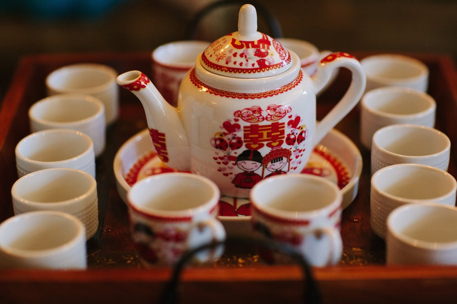 chinese tea set for ceremony