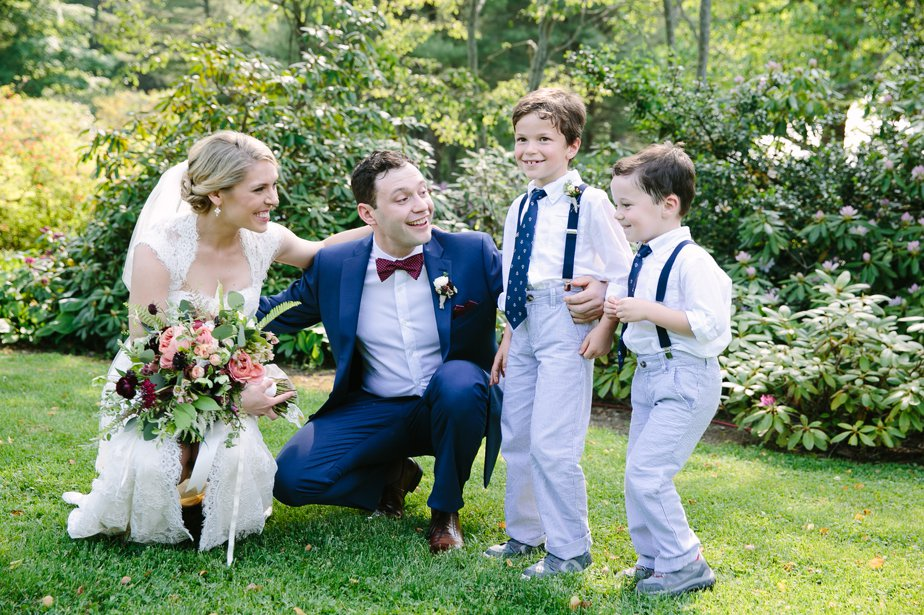 adorable ring bearers at moraine farm wedding