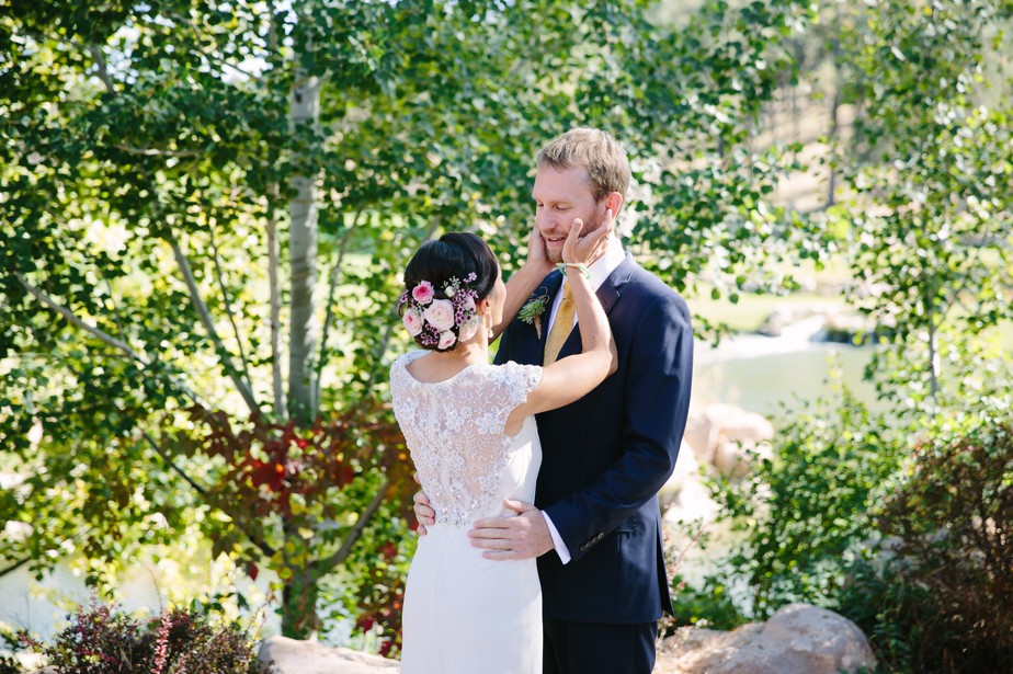 bride and groom at Ranch Wedding in Arizona