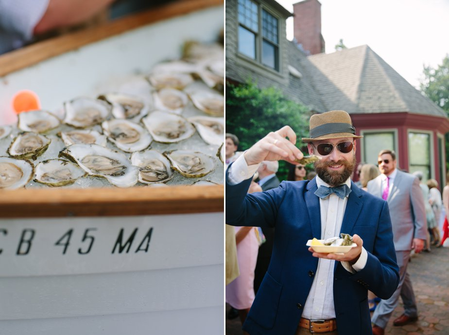 garden party wedding with island creek oysters at moraine farm