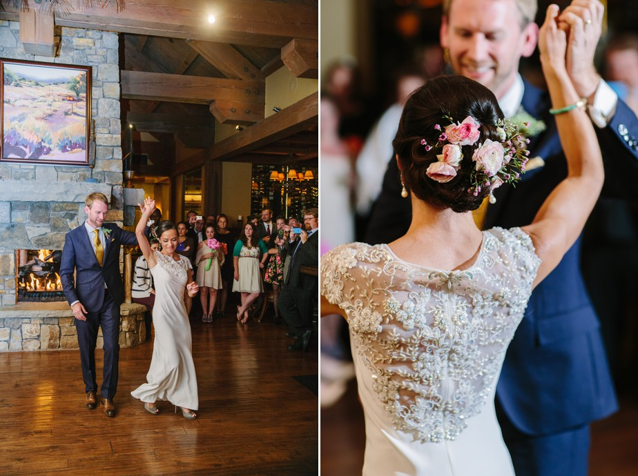 first dance in BHLDN wedding dress