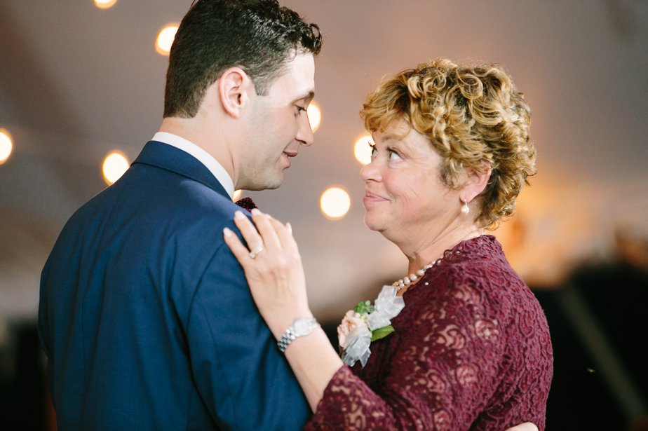 mother son dance at moraine farm wedding