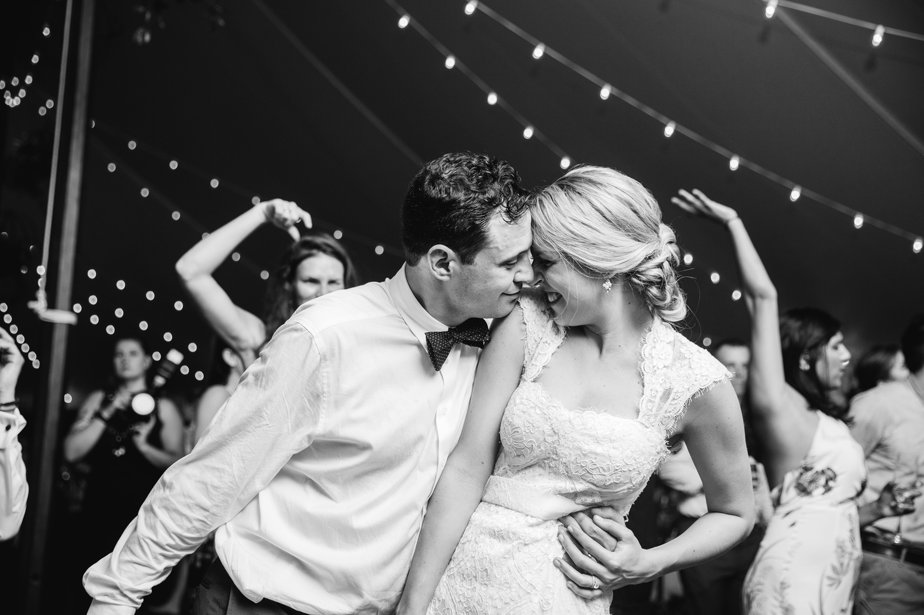 last dance in tented reception at The Estate at Moraine Farm in Beverly MA