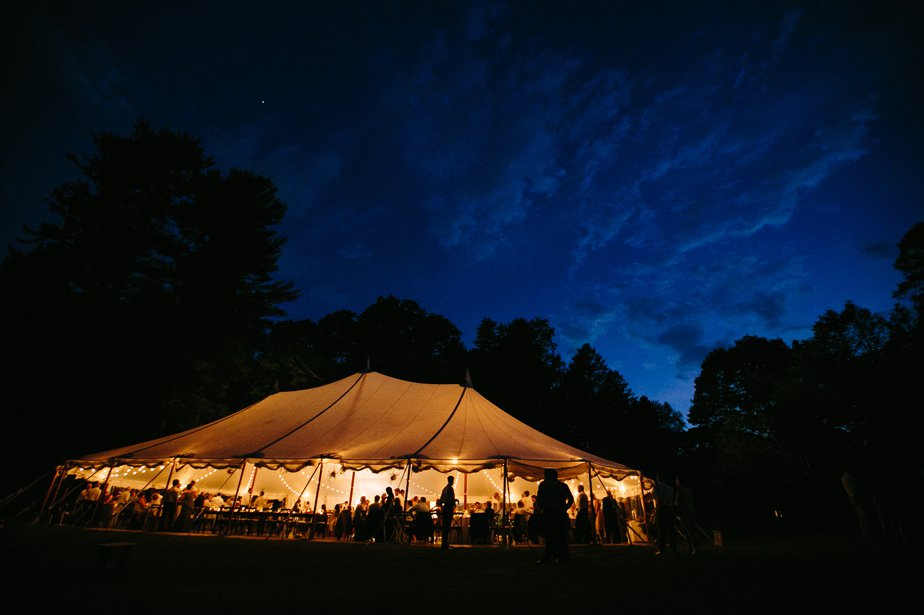 tented reception at The Estate at Moraine Farm in Beverly MA