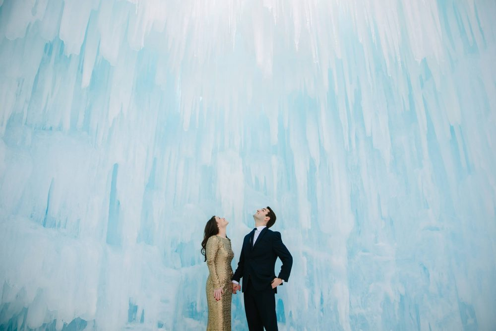 nh white mountain engagement wedding shoot