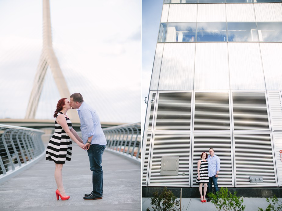 zakim bridge and city skyline for this cool north point park engagment shoot by studio nouveau