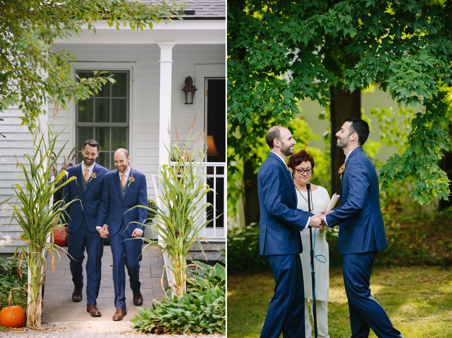 sweet gay wedding at dorset inn in vermont