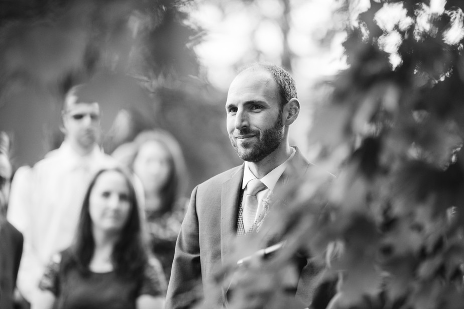 candid groom portrait at dorset inn wedding