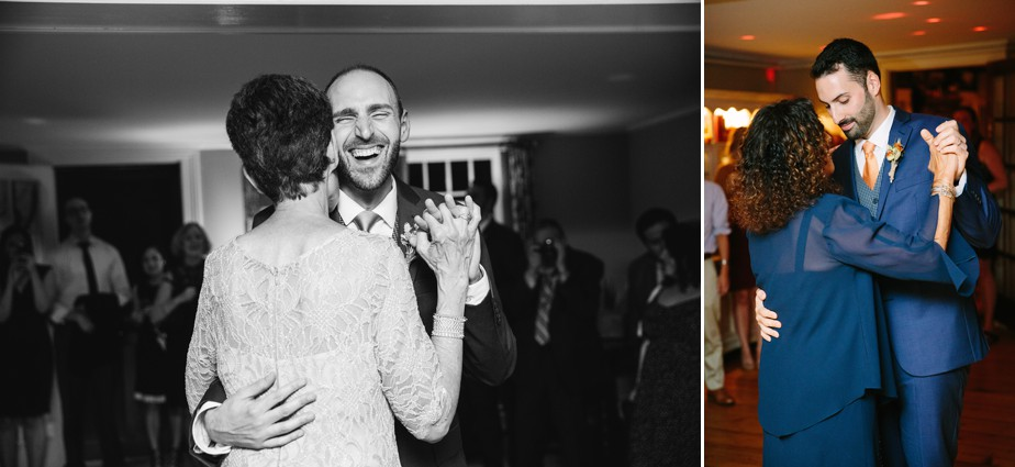 mother and son dance at dorset inn wedding in vermont