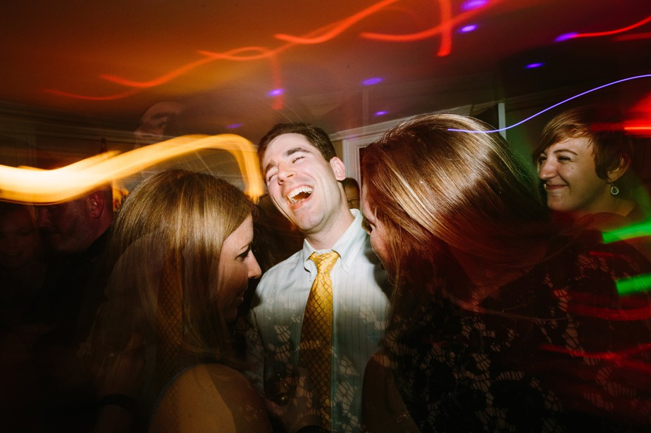 guests having fun at dorset inn wedding