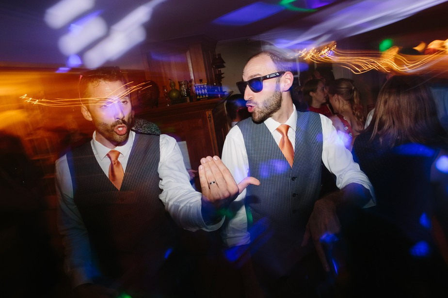 two grooms at dorset inn wedding in vermont