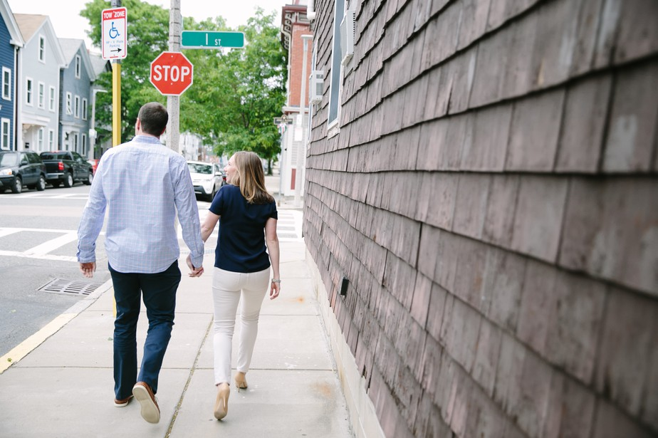 modern engagement photos in south boston